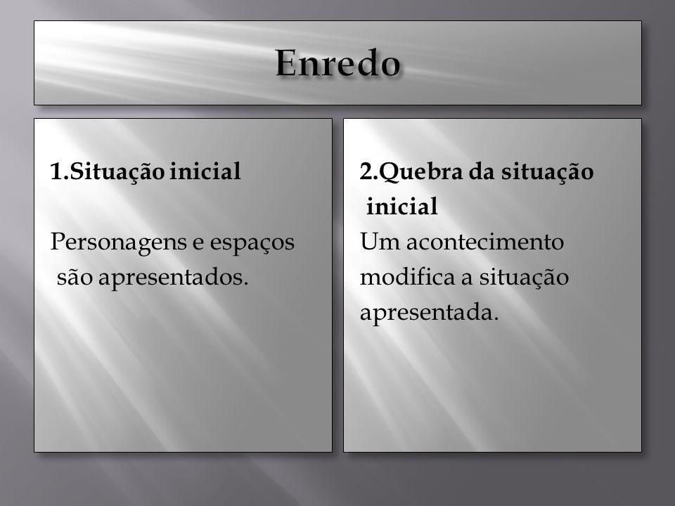 Enredo 1.Situação inicial Personagens e espaços são apresentados.