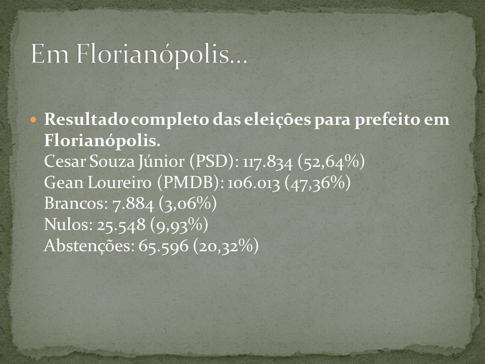 Em Florianópolis...