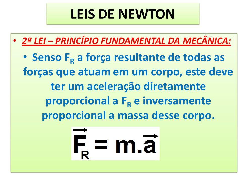 LEIS DE NEWTON 2ª LEI – PRINCÍPIO FUNDAMENTAL DA MECÂNICA: