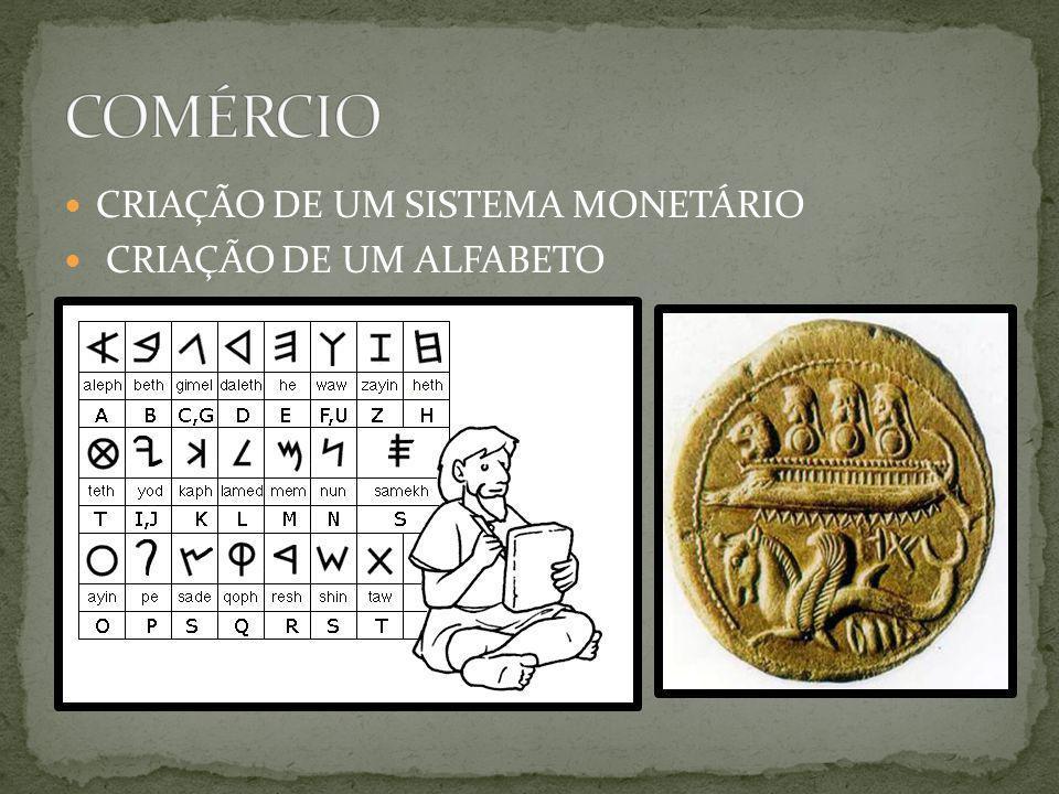 COMÉRCIO CRIAÇÃO DE UM SISTEMA MONETÁRIO CRIAÇÃO DE UM ALFABETO