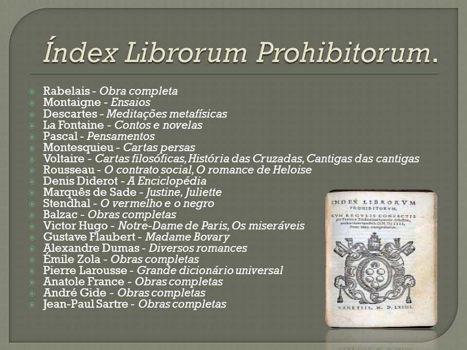 Índex Librorum Prohibitorum.