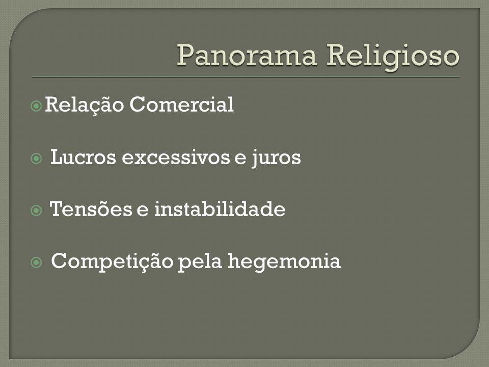 Panorama Religioso Relação Comercial Lucros excessivos e juros