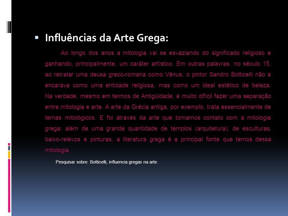 Influências da Arte Grega: