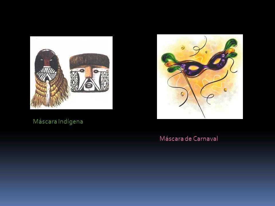 Máscara Indígena Máscara de Carnaval