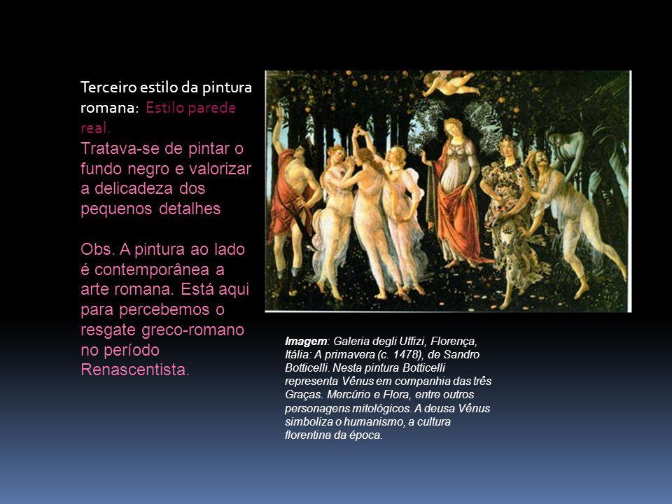 Terceiro estilo da pintura romana: Estilo parede real.