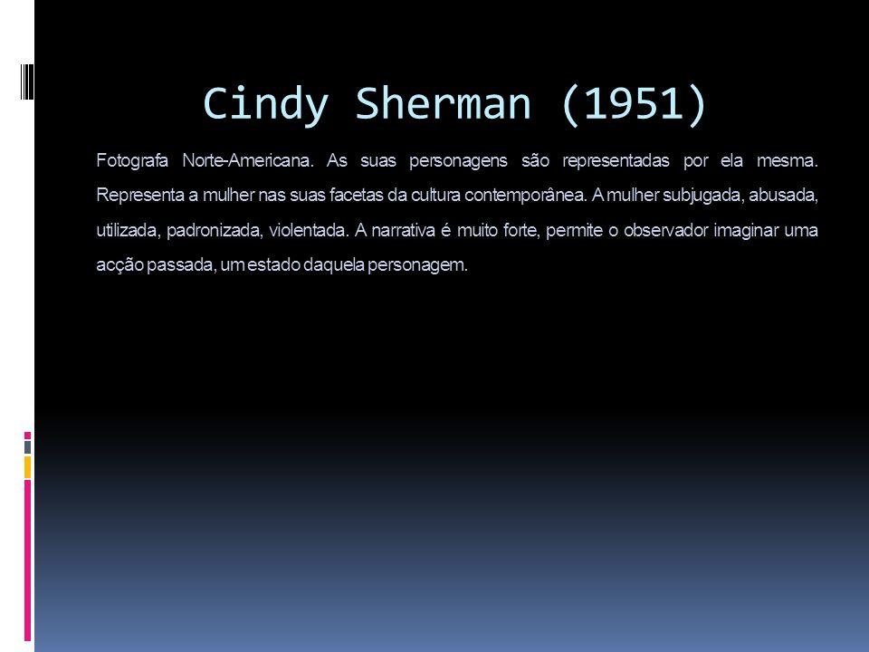 Cindy`Sherman`(1951) Fotografa Norte-Americana