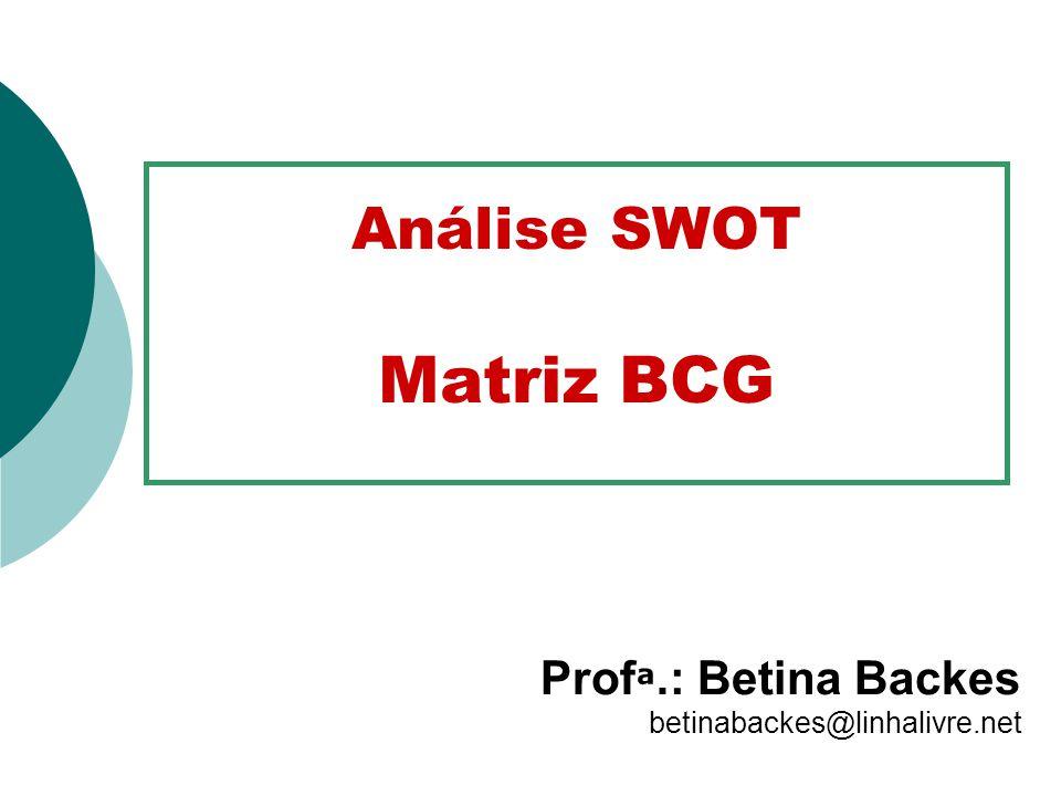 Análise SWOT Matriz BCG