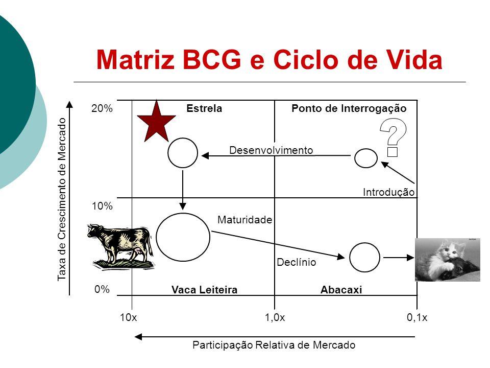 Matriz BCG e Ciclo de Vida