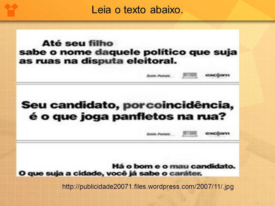 Leia o texto abaixo. http://images.google.com.br/images
