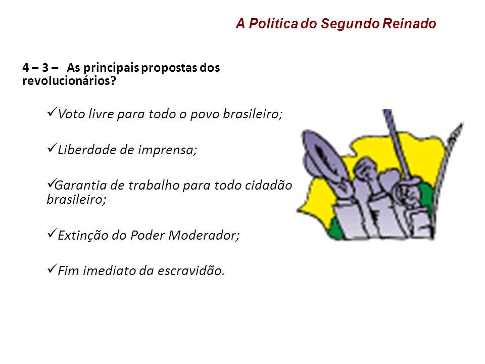 Voto livre para todo o povo brasileiro; Liberdade de imprensa;