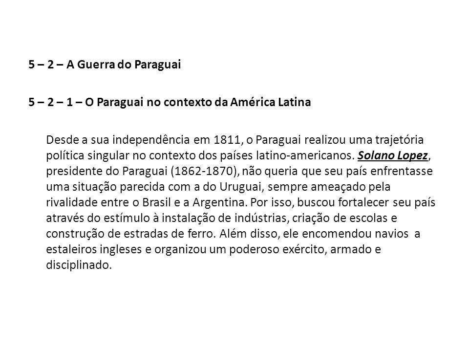 5 – 2 – 1 – O Paraguai no contexto da América Latina