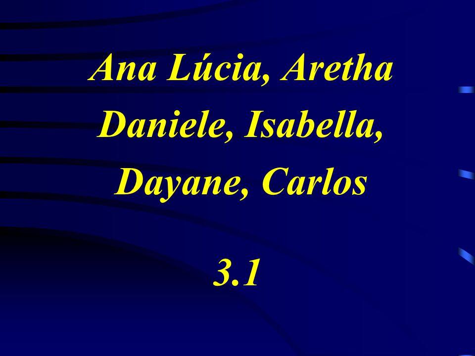 Ana Lúcia, Aretha Daniele, Isabella, Dayane, Carlos