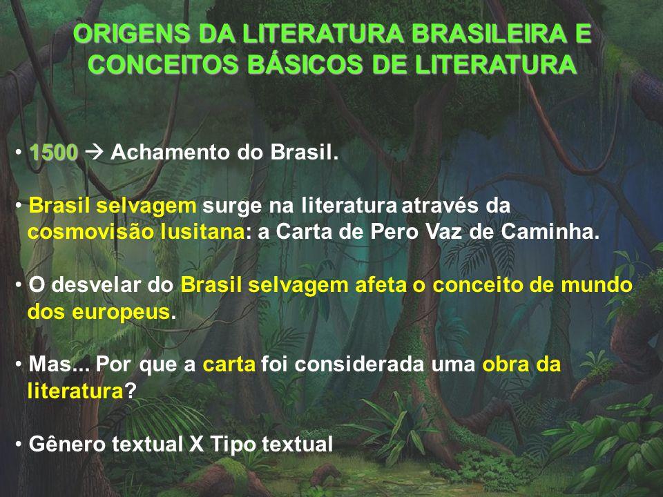 ORIGENS DA LITERATURA BRASILEIRA E CONCEITOS BÁSICOS DE LITERATURA