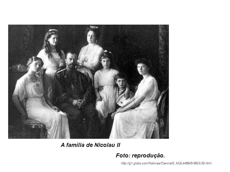 A família de Nicolau II Foto: reprodução.