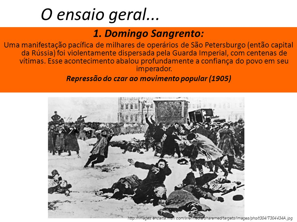 Repressão do czar ao movimento popular (1905)