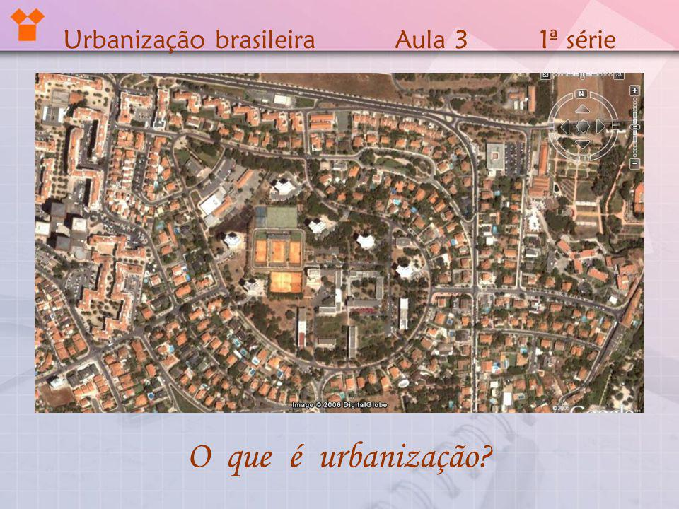 Urbanização brasileira Aula 3 1ª série