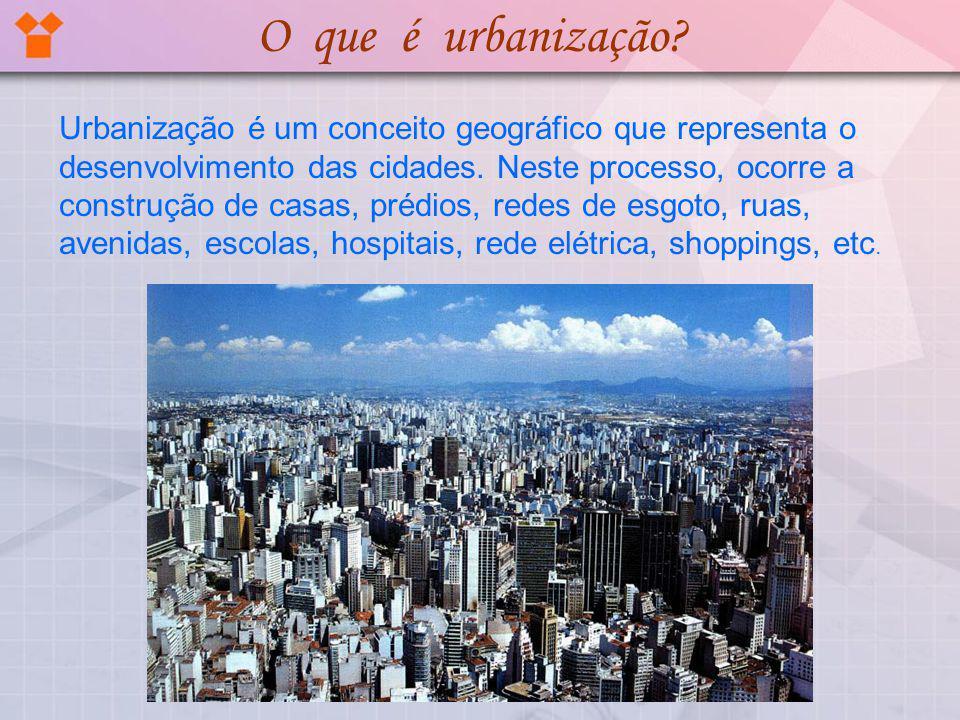 O que é urbanização