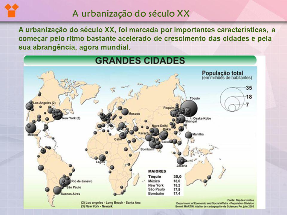 A urbanização do século XX