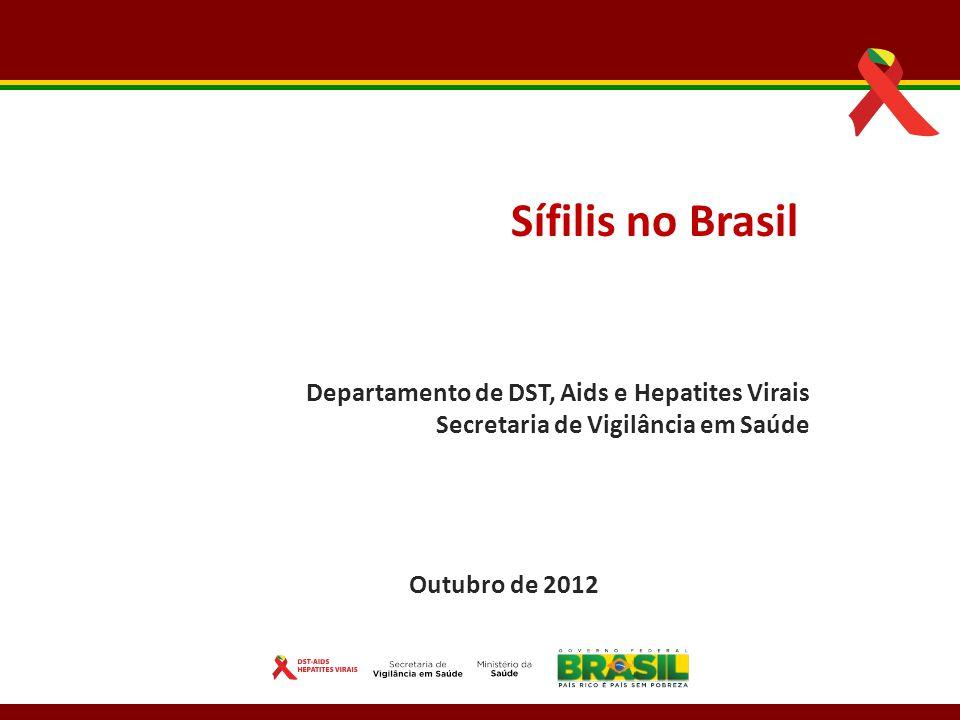 Sífilis no Brasil Departamento de DST, Aids e Hepatites Virais
