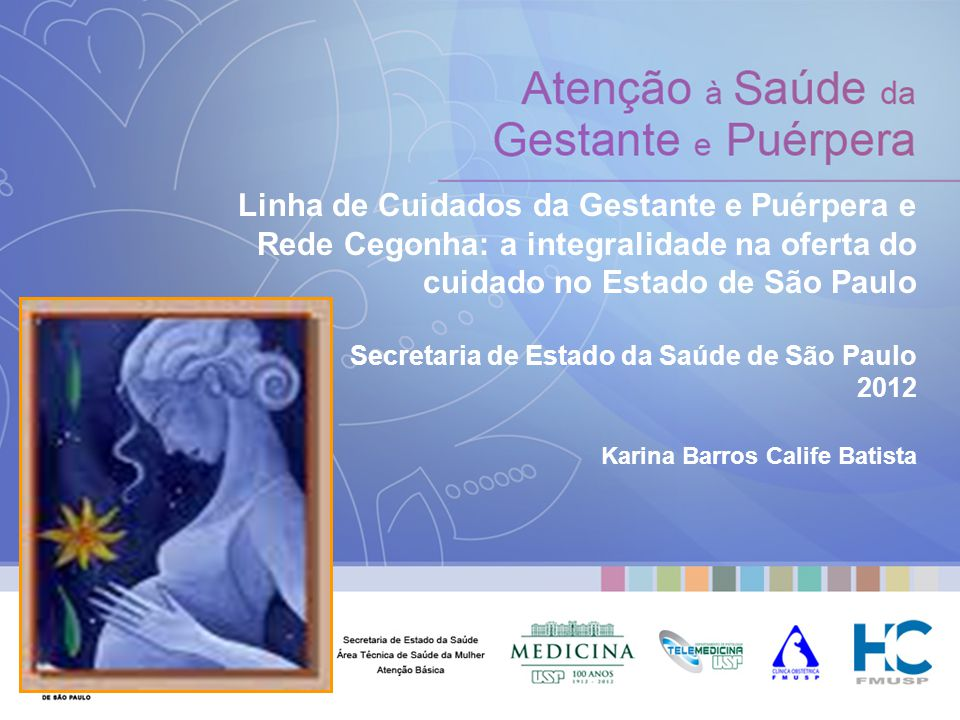 Linha de Cuidados da Gestante e Puérpera e Rede Cegonha: a integralidade na oferta do cuidado no Estado de São Paulo