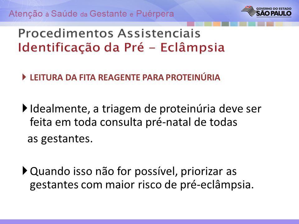 LEITURA DA FITA REAGENTE PARA PROTEINÚRIA