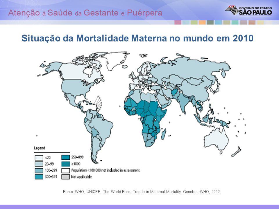 Situação da Mortalidade Materna no mundo em 2010