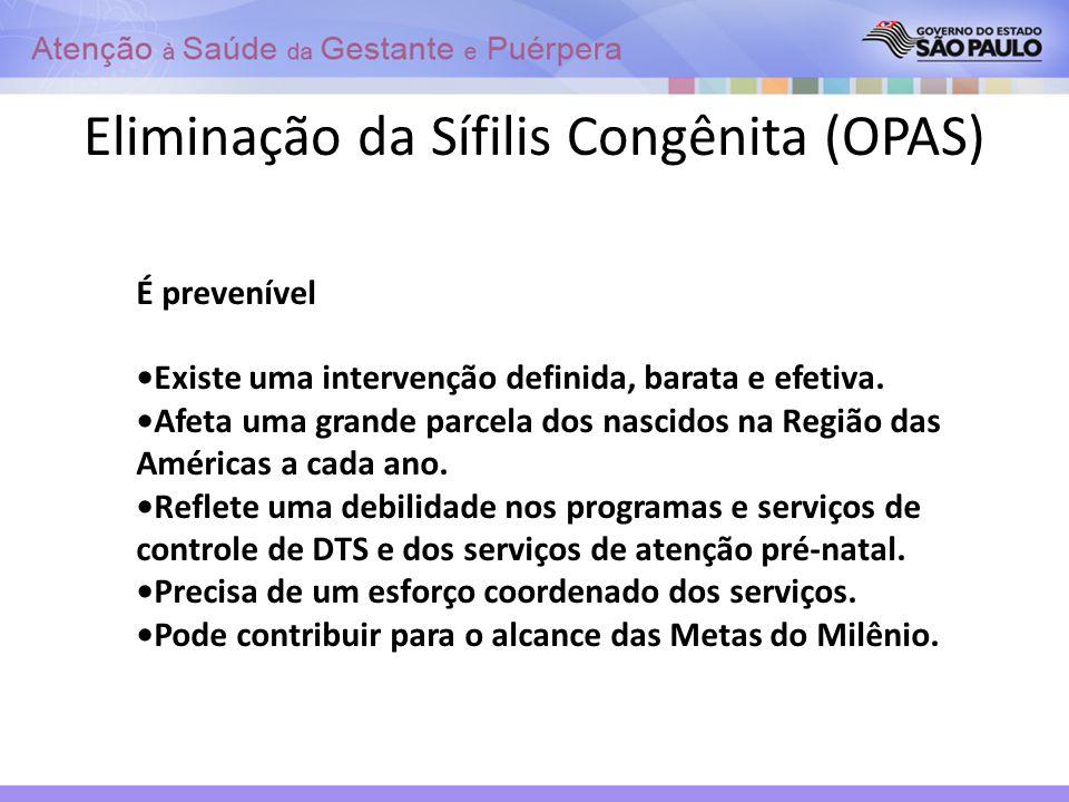 Eliminação da Sífilis Congênita (OPAS)