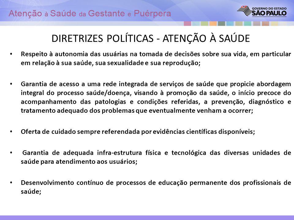 DIRETRIZES POLÍTICAS - ATENÇÃO À SAÚDE