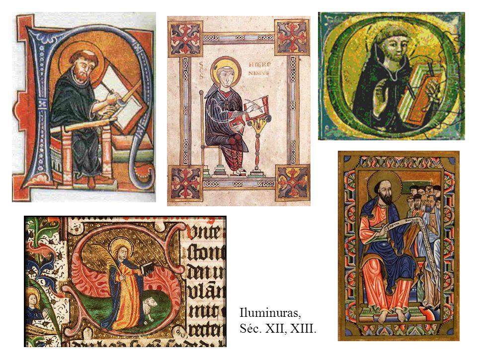 Iluminuras, Séc. XII, XIII.