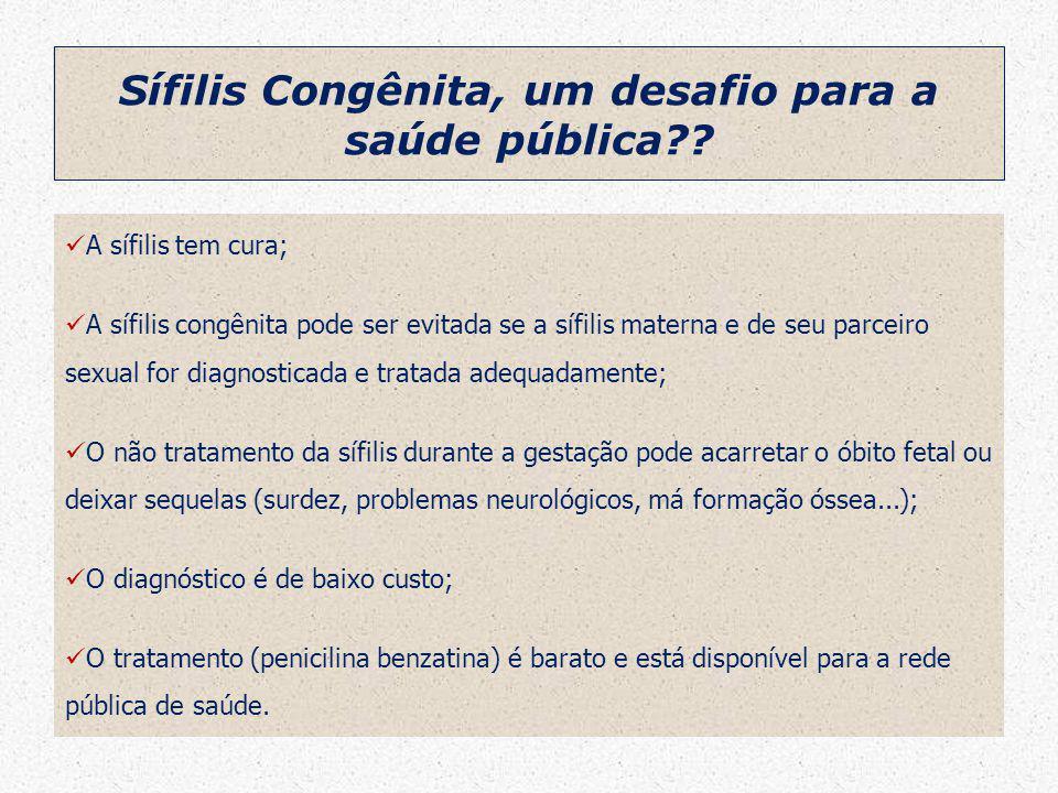Sífilis Congênita, um desafio para a saúde pública