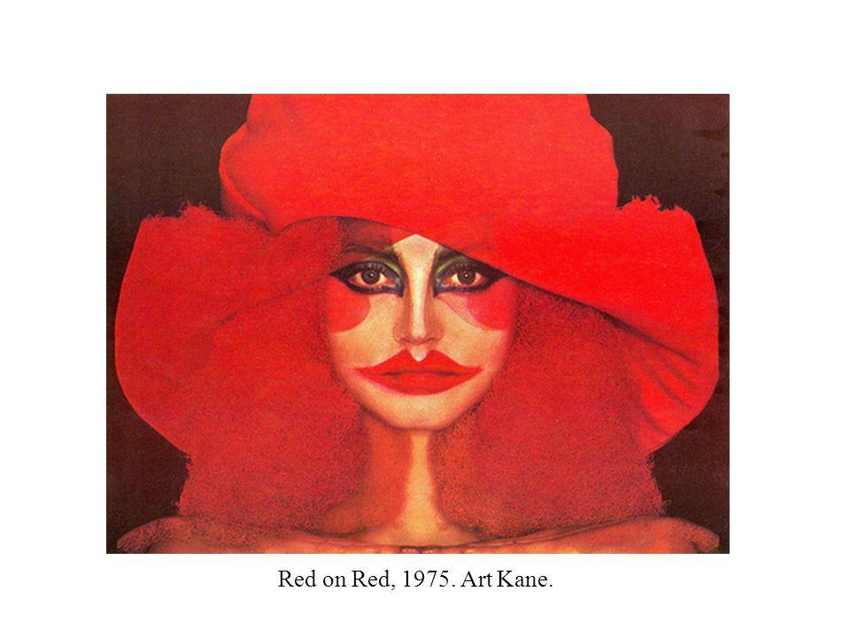 Red on Red, 1975. Art Kane.