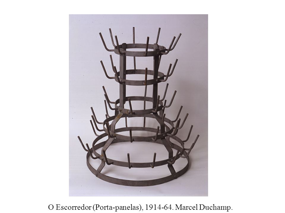 O Escorredor (Porta-panelas), 1914-64. Marcel Duchamp.