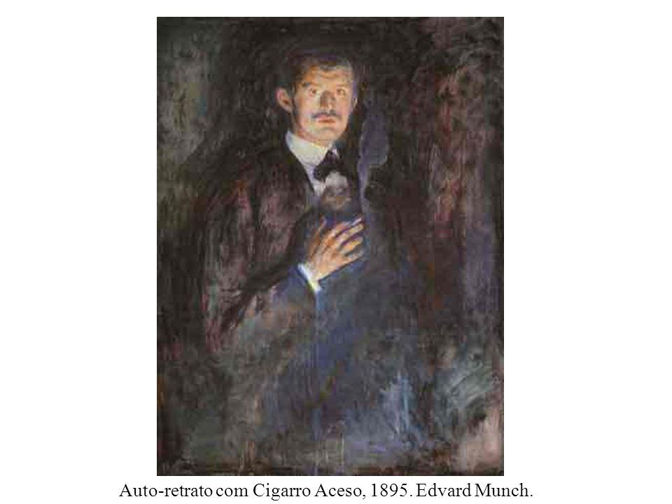 Auto-retrato com Cigarro Aceso, 1895. Edvard Munch.