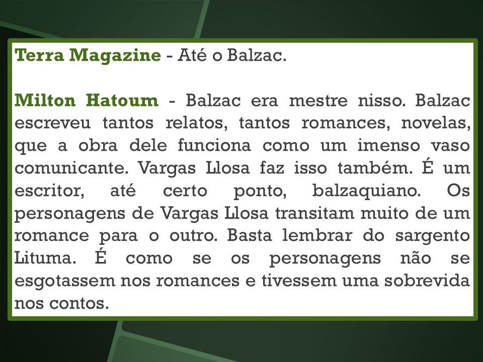 Terra Magazine - Até o Balzac.