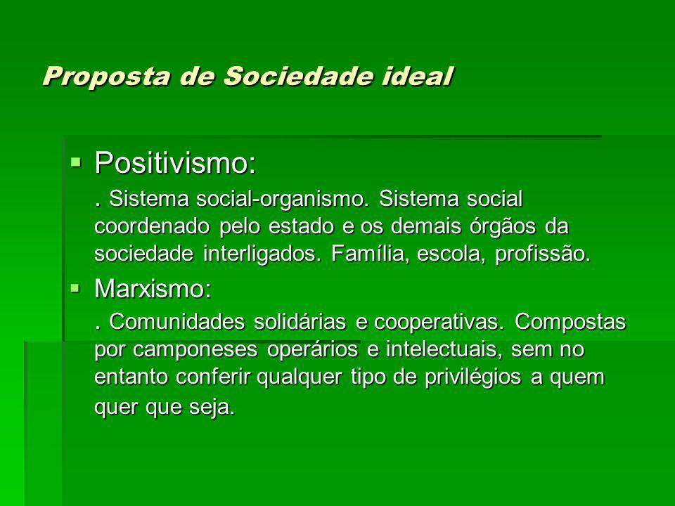 Proposta de Sociedade ideal