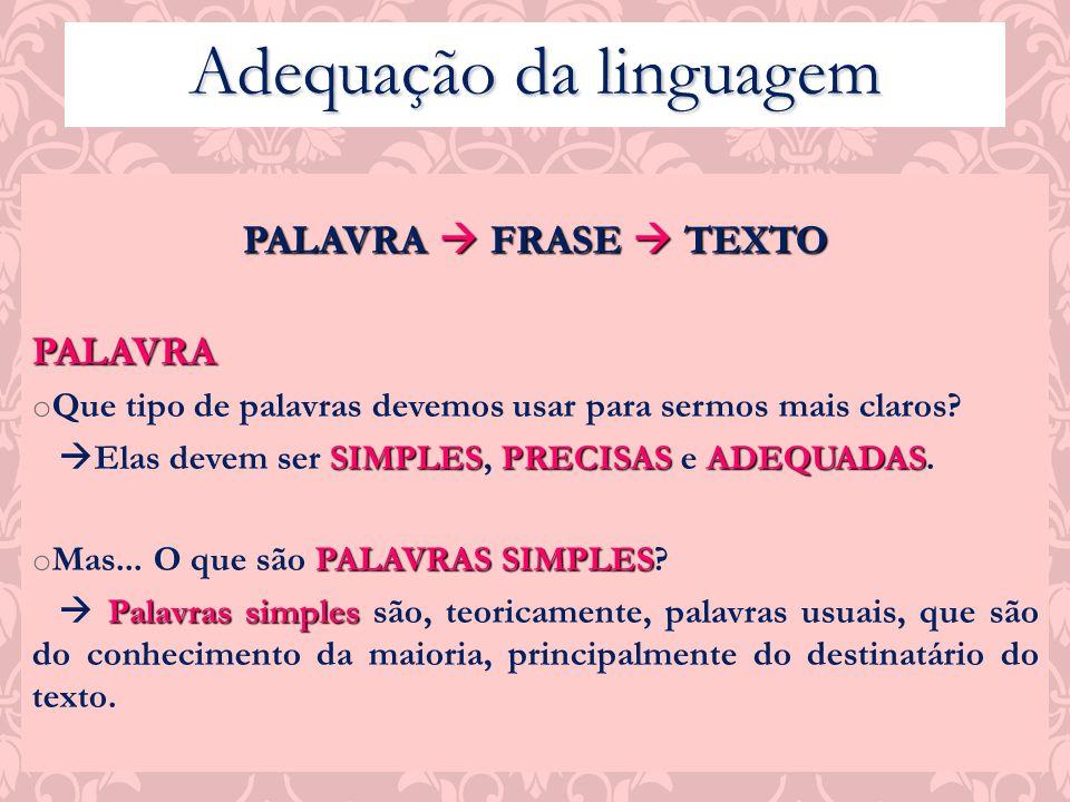 Adequação da linguagem
