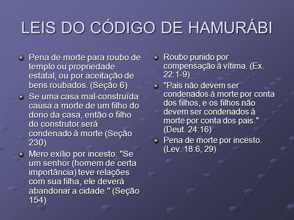 LEIS DO CÓDIGO DE HAMURÁBI