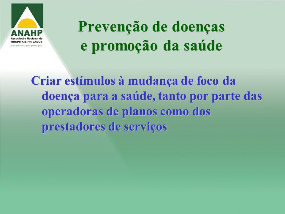 Prevenção de doenças e promoção da saúde