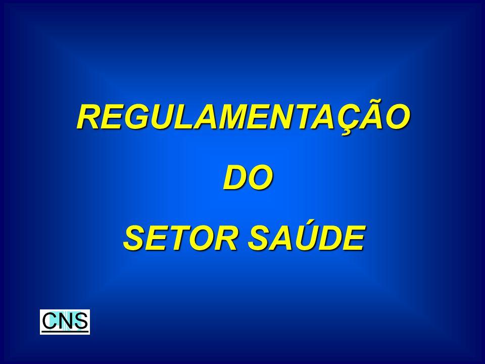 REGULAMENTAÇÃO DO SETOR SAÚDE