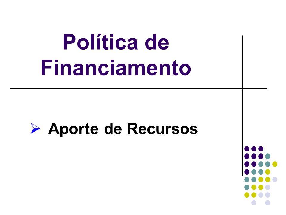 Política de Financiamento
