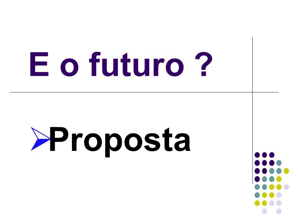 E o futuro Proposta