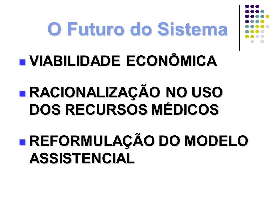 O Futuro do Sistema VIABILIDADE ECONÔMICA