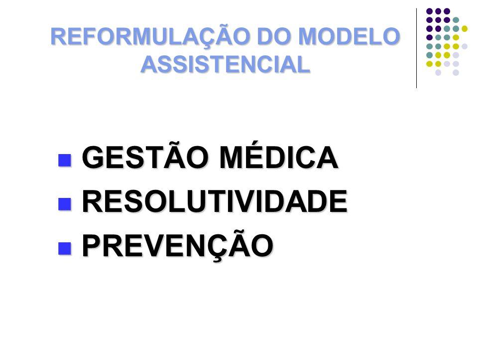 REFORMULAÇÃO DO MODELO ASSISTENCIAL