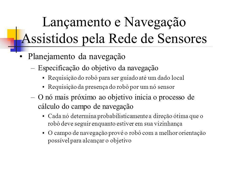 Lançamento e Navegação Assistidos pela Rede de Sensores