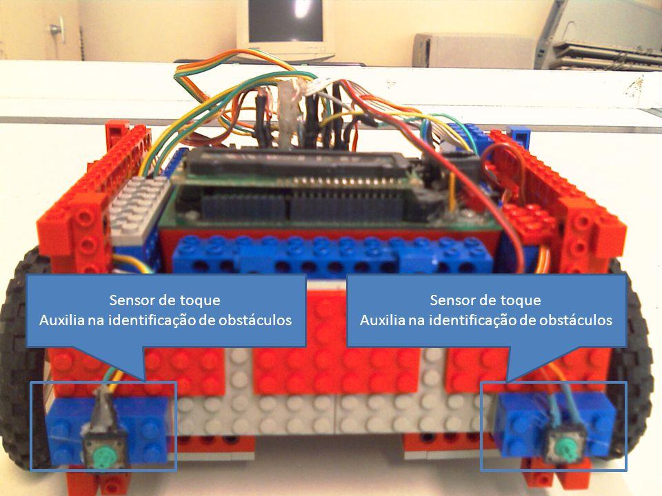 Auxilia na identificação de obstáculos Sensor de toque
