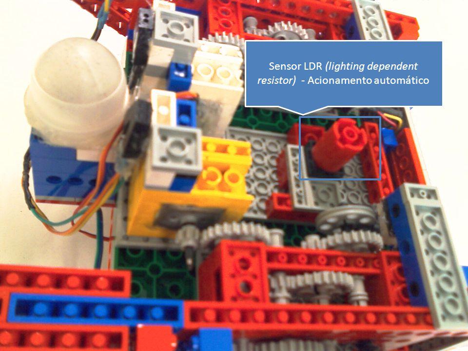 Sensor LDR (lighting dependent resistor) - Acionamento automático