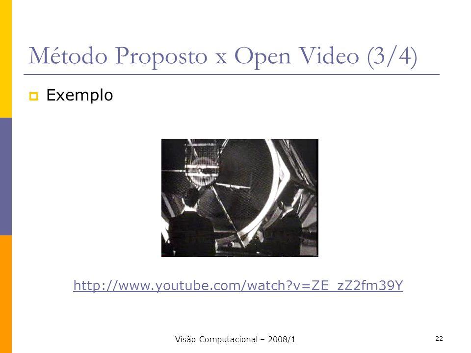 Método Proposto x Open Video (3/4)
