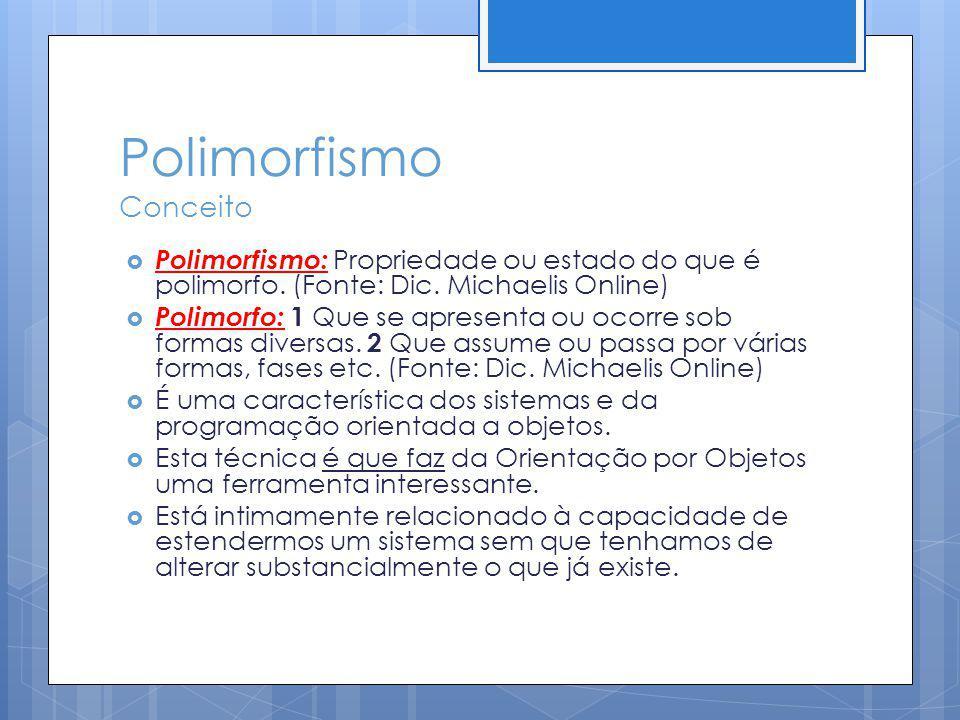 Polimorfismo Conceito