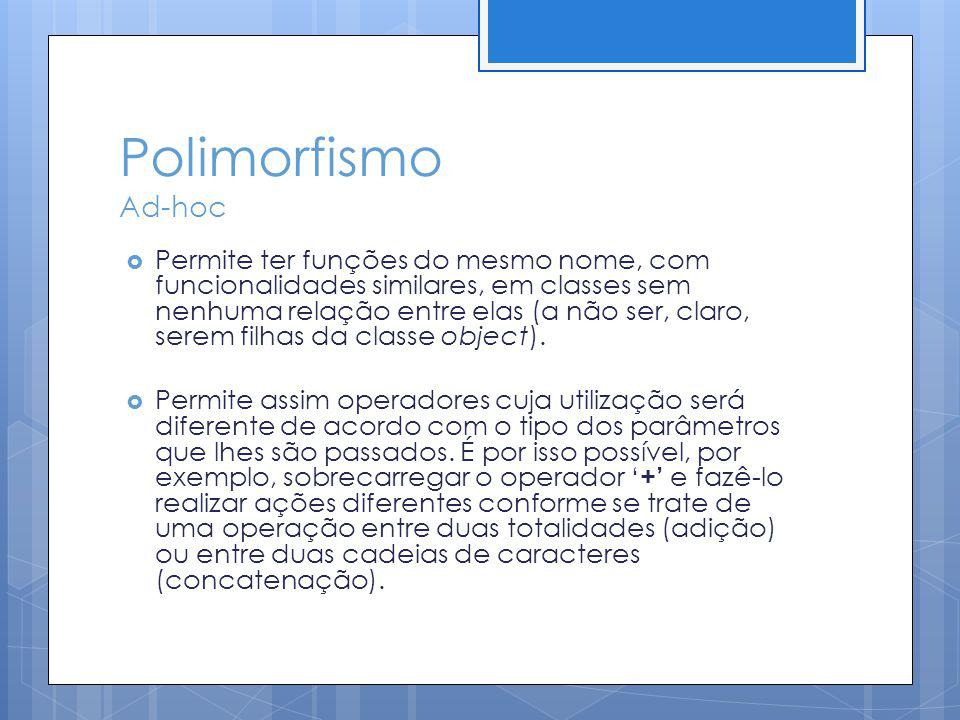 Polimorfismo Ad-hoc