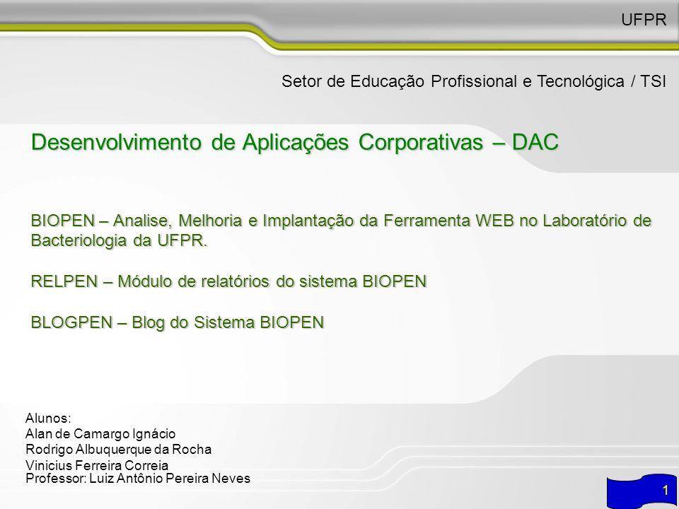 UFPR Setor de Educação Profissional e Tecnológica / TSI.